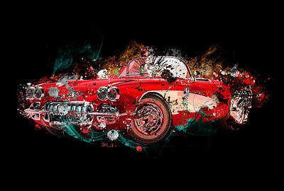 Abstract Digital Painting - Corvert 2 by Mark Ashkenazi