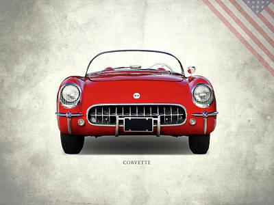 C1 Photograph - Corvette 1954 Front by Mark Rogan
