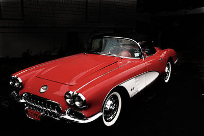 Photograph - Corvette 1958 by John Schneider