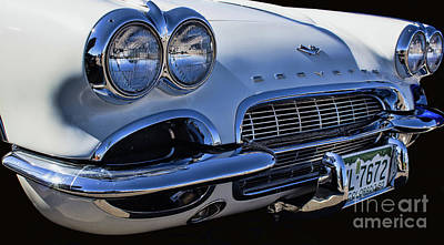 Photograph - Corvette 1961 by Steven Parker