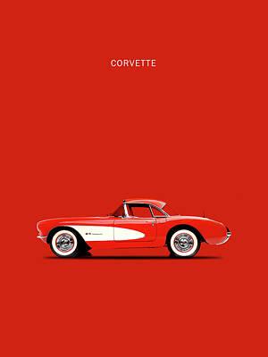 C1 Photograph - Corvette 57 by Mark Rogan
