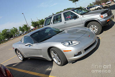 Photograph - Corvette At The Bmo by Donna Munro