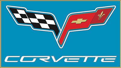 Photograph - Corvette Logo by Carlos Diaz