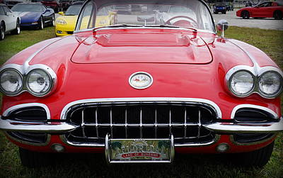 Photograph - Little Red Corvette by Laurie Perry