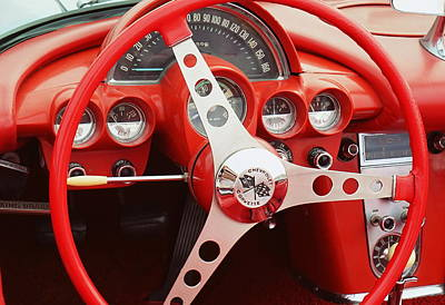 Photograph - Corvette Dash by Laurie Perry
