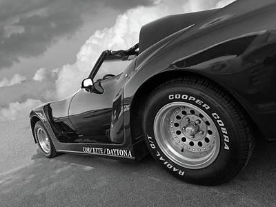 Photograph - Corvette Daytona In Black And White by Gill Billington