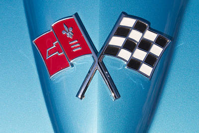Automobile Photograph - Corvette Emblem Classic by J Darrell Hutto