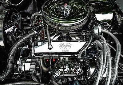 Photograph - Corvette Engine by M G Whittingham