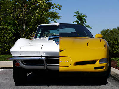 Photograph - Corvette Evolution by Richard Reeve