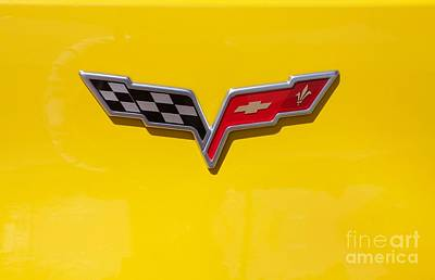 Photograph - Corvette Flags by Linda Bianic