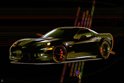 Fli Digital Art - Corvette by  Fli Art