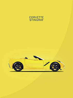 Sports Car Photograph - Corvette In Yellow by Mark Rogan