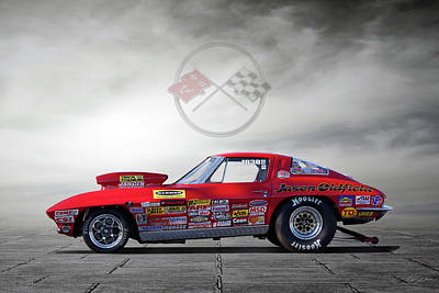 Drag Photograph - Corvette Profile by Peter Chilelli