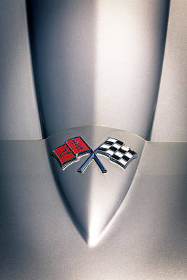 Photograph - Corvette Racing Flags by Caitlyn Grasso