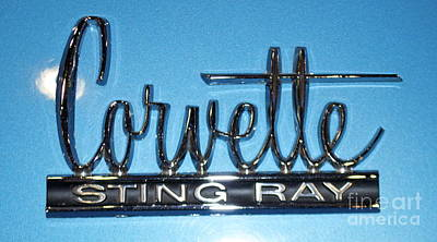 Photograph - Corvette Sting Ray by Pamela Walrath
