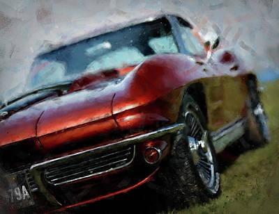 Painting - Corvette Stingray - 07 by Andrea Mazzocchetti