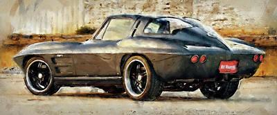 Painting - Corvette Stingray - 08 by Andrea Mazzocchetti