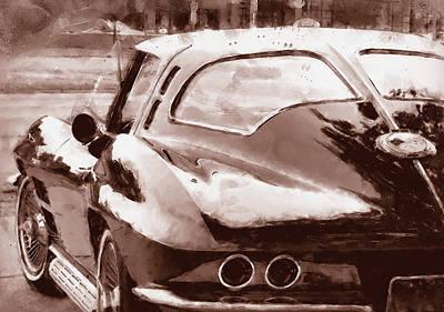 Painting - Corvette Stingray - 09 by Andrea Mazzocchetti
