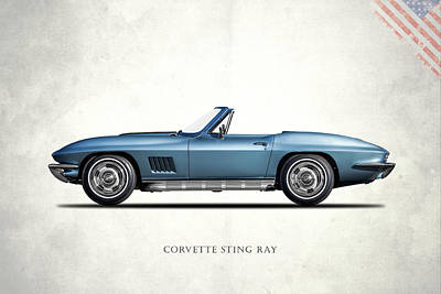 C2 Photograph - Corvette Stingray 1967 by Mark Rogan