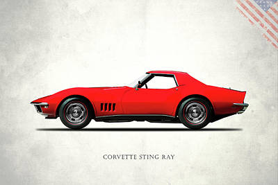 Corvette Stingray 1968 Art Print