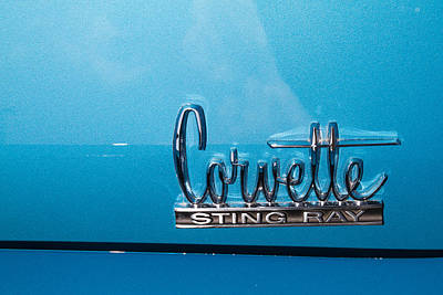 Antique Photograph - Corvette Stingray Emblem by J Darrell Hutto