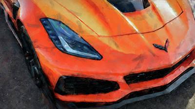 Painting - Corvette Zr1 by Andrea Mazzocchetti