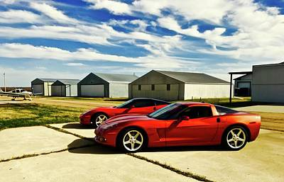 Photograph - Corvettes by Brian Sereda