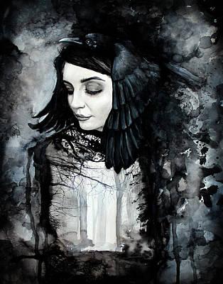 Painting - Corvus by Arleana Holtzmann