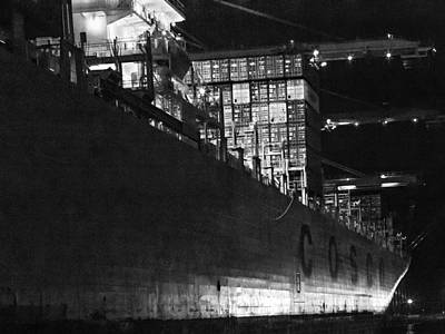 Photograph - Cosco Night Bw by Denise Dube