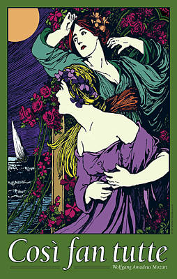 Cosi Fan Tutte Opera Print by Joe Barsin
