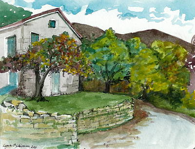 Art Print featuring the painting Cosica Italy by Lynn Babineau
