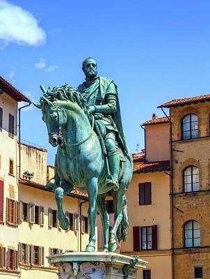Photograph - Cosimo Medici's Statue On The Piazza Della Signoria By Giambologna In Florence, Italy. by Elenarts - Elena Duvernay photo