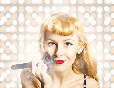 Photograph - Cosmetics Makeover Pin Up by Jorgo Photography - Wall Art Gallery