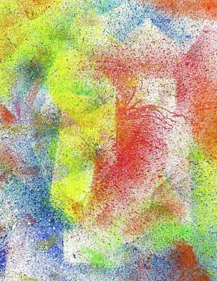 Fireworks Painting - Cosmic Amon Ray #553 by Rainbow Artist Orlando L aka Kevin Orlando Lau