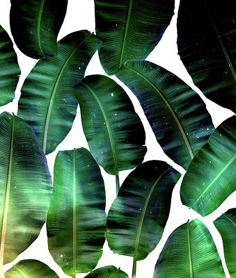 Leaves Digital Art - Cosmic Banana Leaves by Uma Gokhale