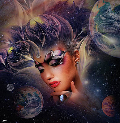 Erotica Mixed Media - Cosmic Beauty by G Berry