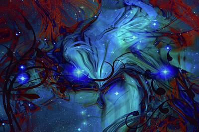Digital Art - Cosmic Blue by Linda Sannuti