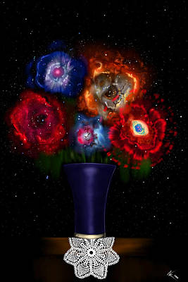 Digital Art - Cosmic Bouquet by Norman Klein