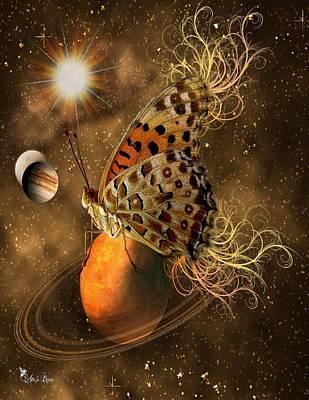 Digital Art - Cosmic Butterfly by Ali Oppy