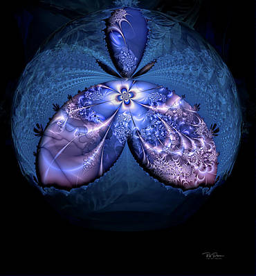 Digital Art - Cosmic Butterfly by Bill Posner