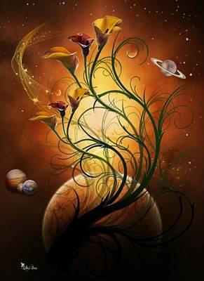 Digital Art - #1 Cosmic Calla by Ali Oppy