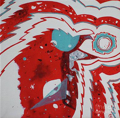 Painting - Cosmic Corvid by Cynthia Lagoudakis