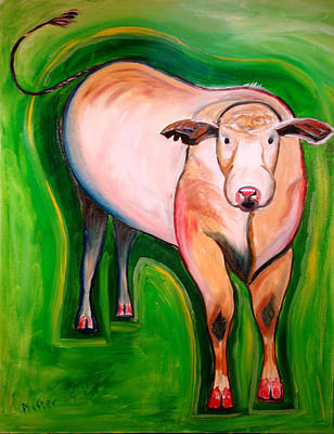 Cow Painting - Cosmic Cow by Scott Plaster