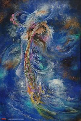 Persian Miniature Painting - Cosmic Dance  by Salma