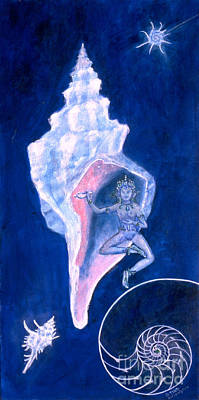 Cosmic Dancer Art Print by Doris Blessington