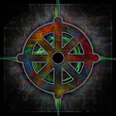 Photograph - Cosmic Dharma Wheel by Ray Van Gundy