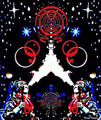 Digital Art - Cosmic Duo by Wesley Nesbitt