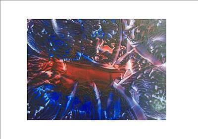Noahs Ark Mixed Media - Cosmic Explosion by Pamela Whitlock-Smith