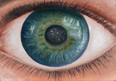 Painting - Cosmic Eye by Brian Nunes