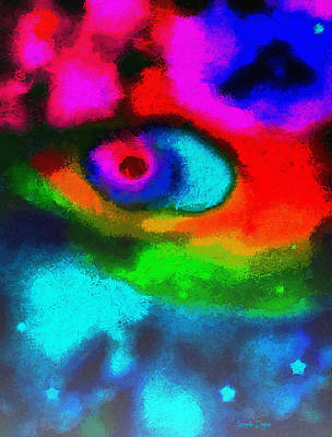 Flames Digital Art - Cosmic Eye - Da by Leonardo Digenio